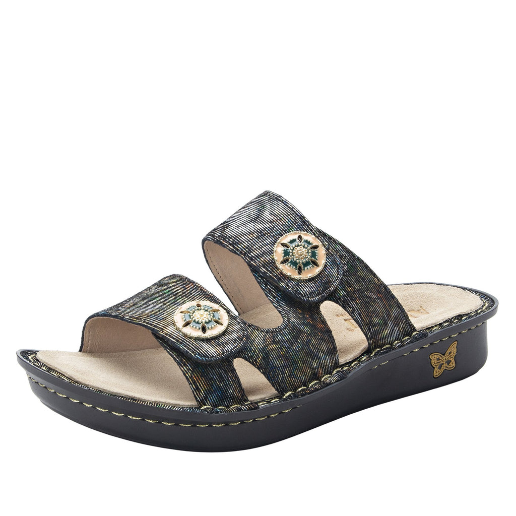 Violette Copacetic Copper slide sandal with cutout design on mini outsole - VIO-126_S1