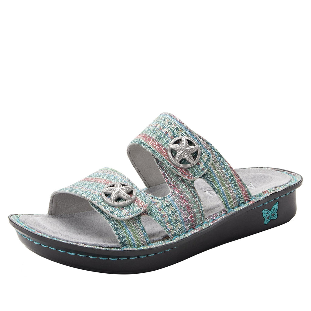 Violette Seascape slide sandal with cutout design on mini outsole - VIO-168_S1