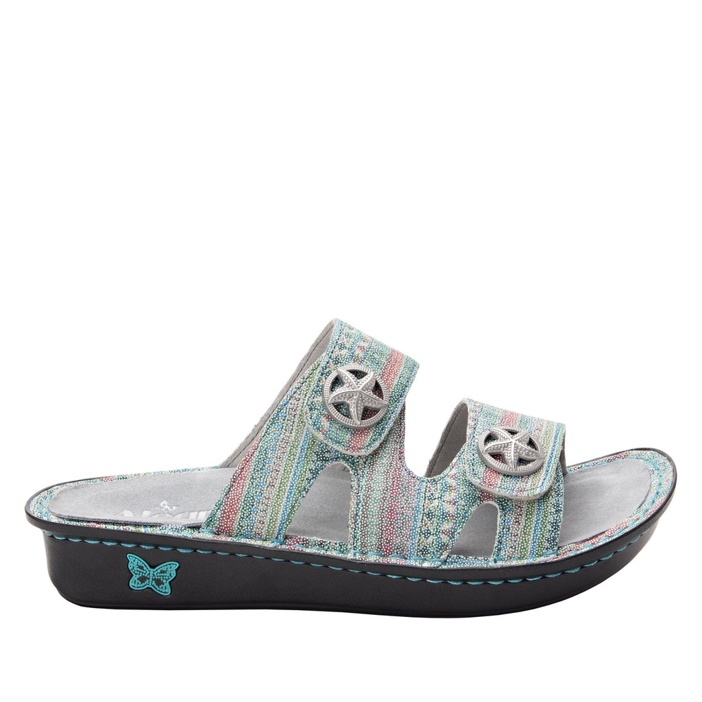 Violette Seascape slide sandal with cutout design on mini outsole - VIO-168_S2