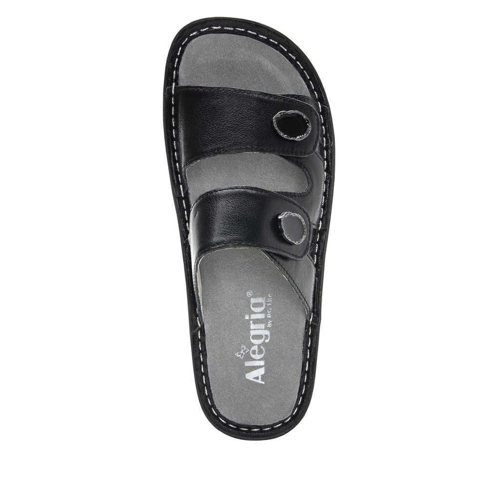 Violette Black slide sandal with cutout design on mini outsole - VIO-611_S4