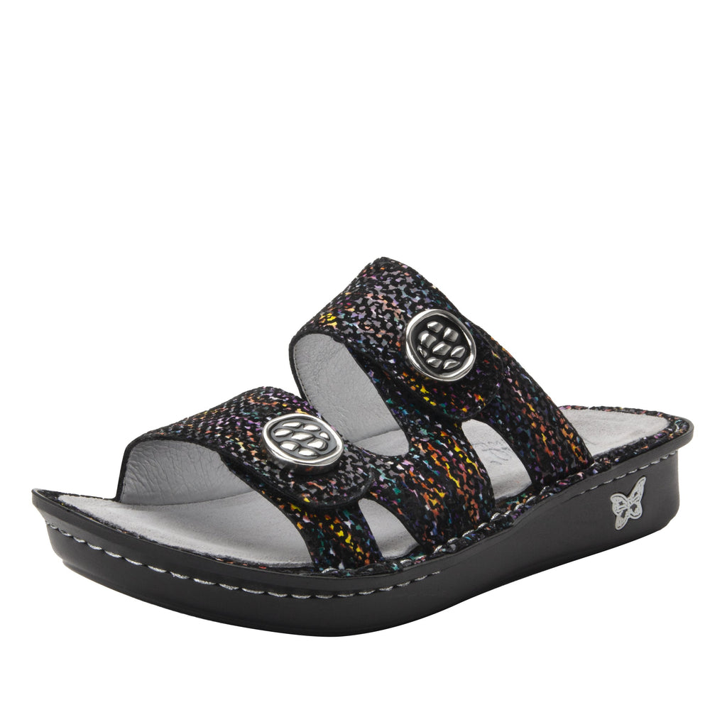 Violette Diversified slide sandal with cutout design on mini outsole - VIO-7745_S1