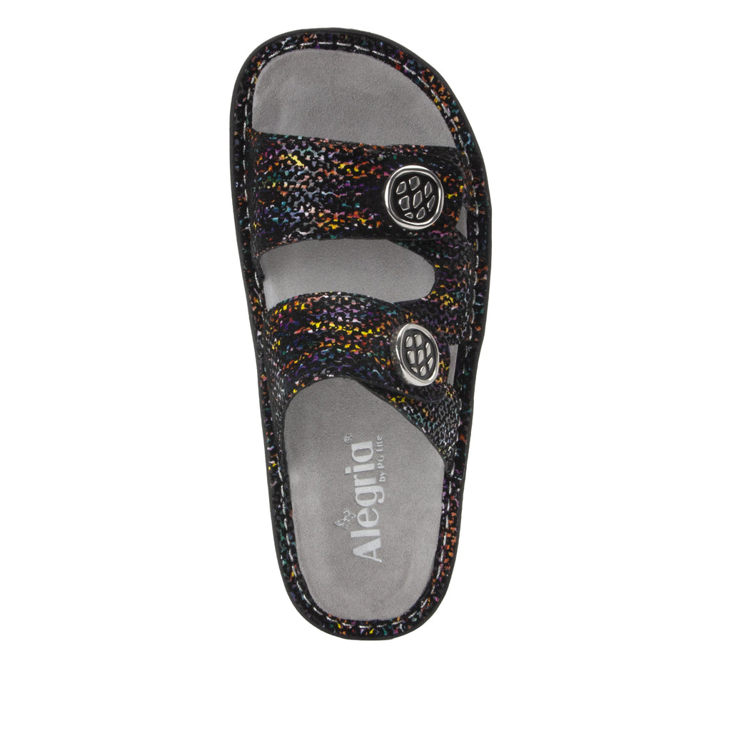 Violette Diversified slide sandal with cutout design on mini outsole - VIO-7745_S4