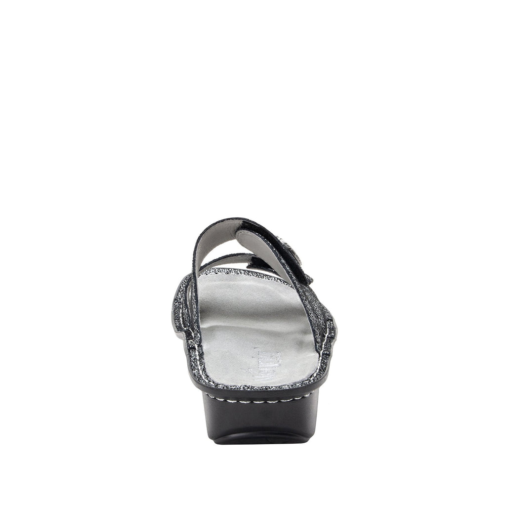 Violette Chirpy Pewter slide sandal with cutout design on mini outsole - VIO-900_S3