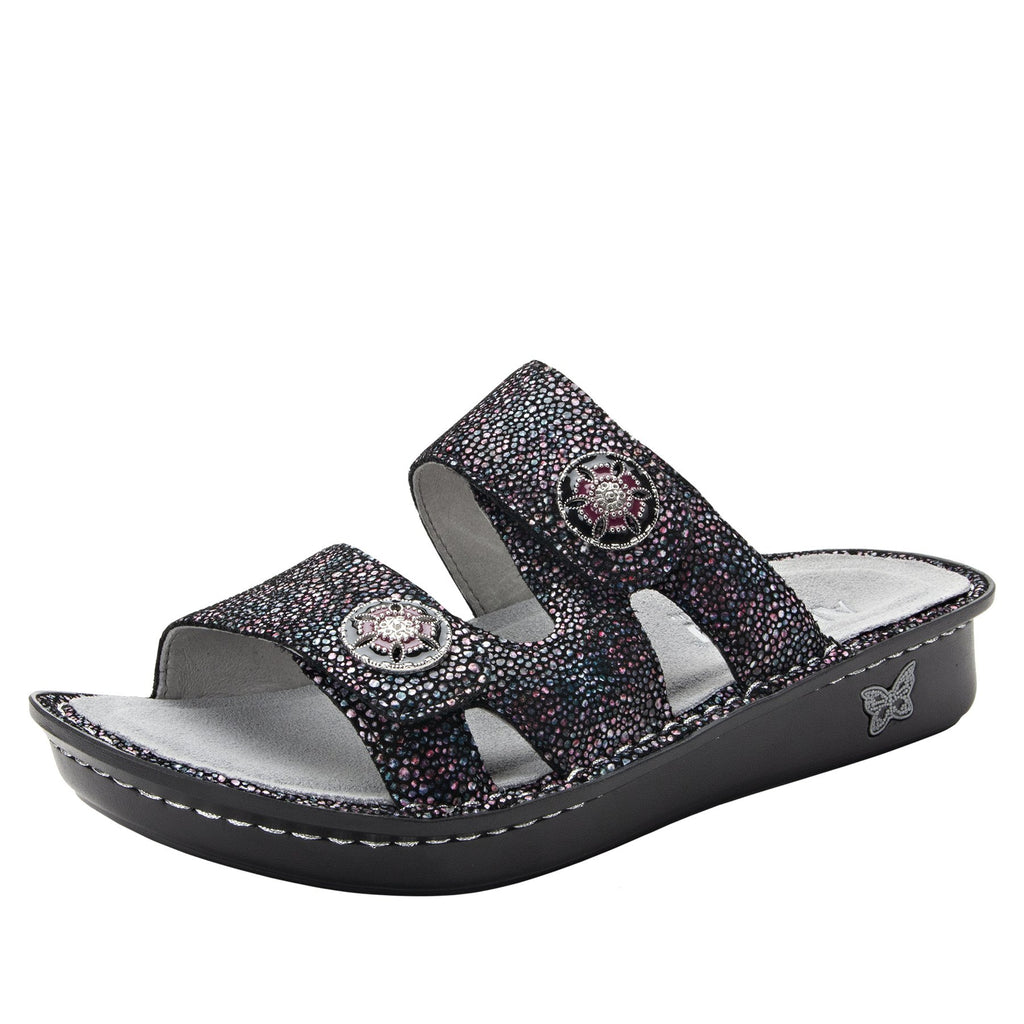 Violette Plum Multi slide sandal with cutout design on mini outsole - VIO-935_S1