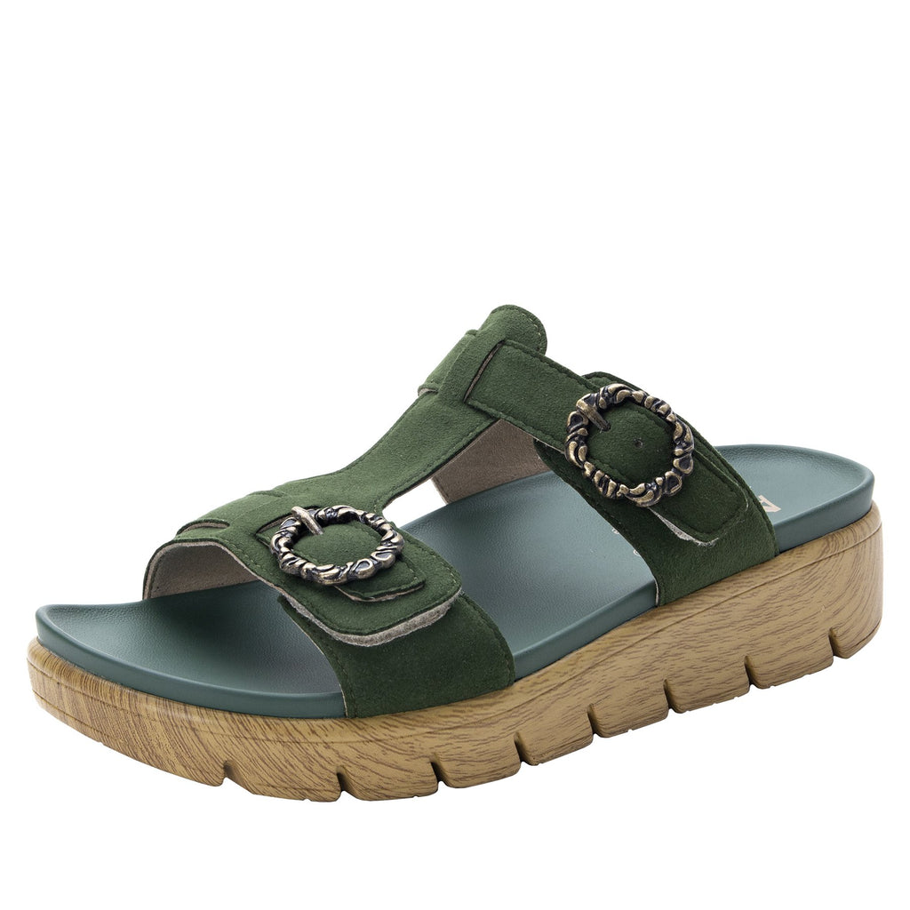 Vita Forest gladiator inspired sandal with t-strap hook and loop adjustable straps - VIT-119_S1