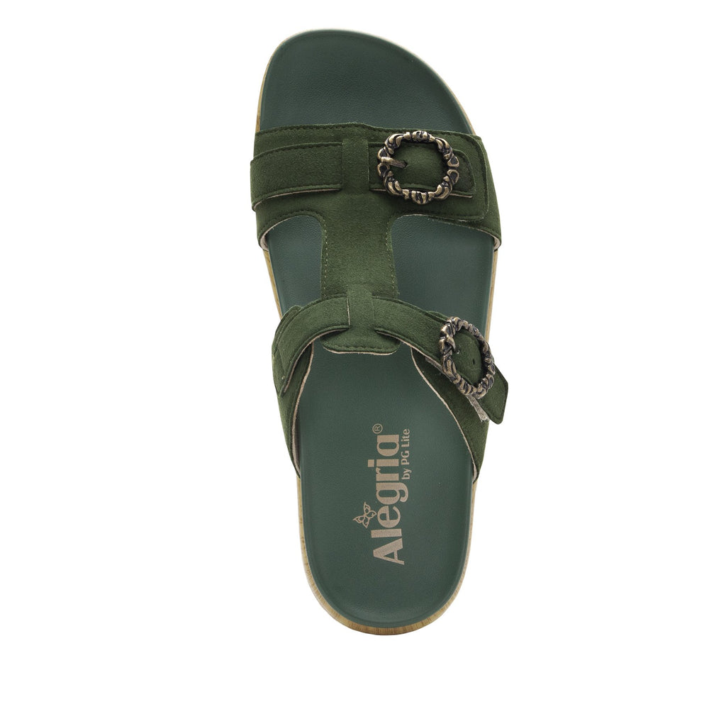 Vita Forest gladiator inspired sandal with t-strap hook and loop adjustable straps - VIT-119_S4