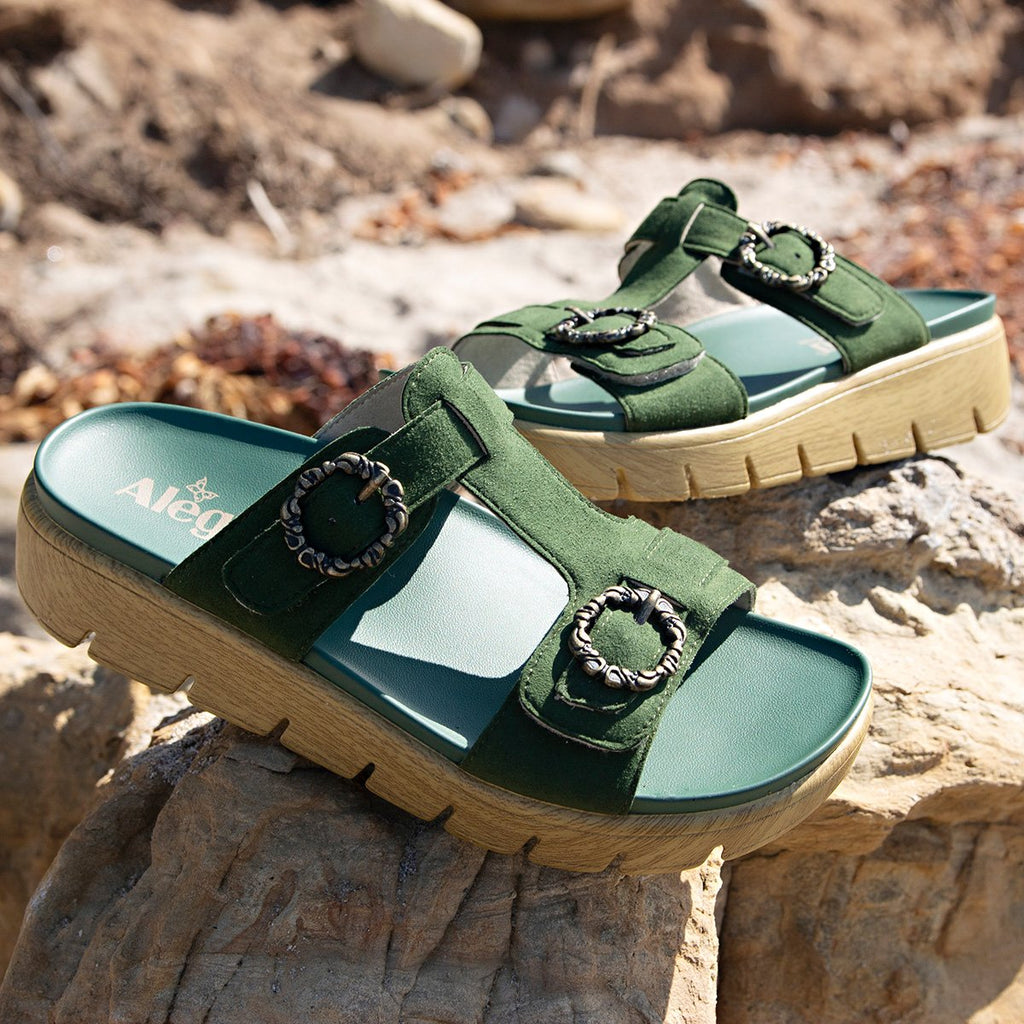 Vita Forest gladiator inspired sandal with t-strap hook and loop adjustable straps - VIT-119_S2