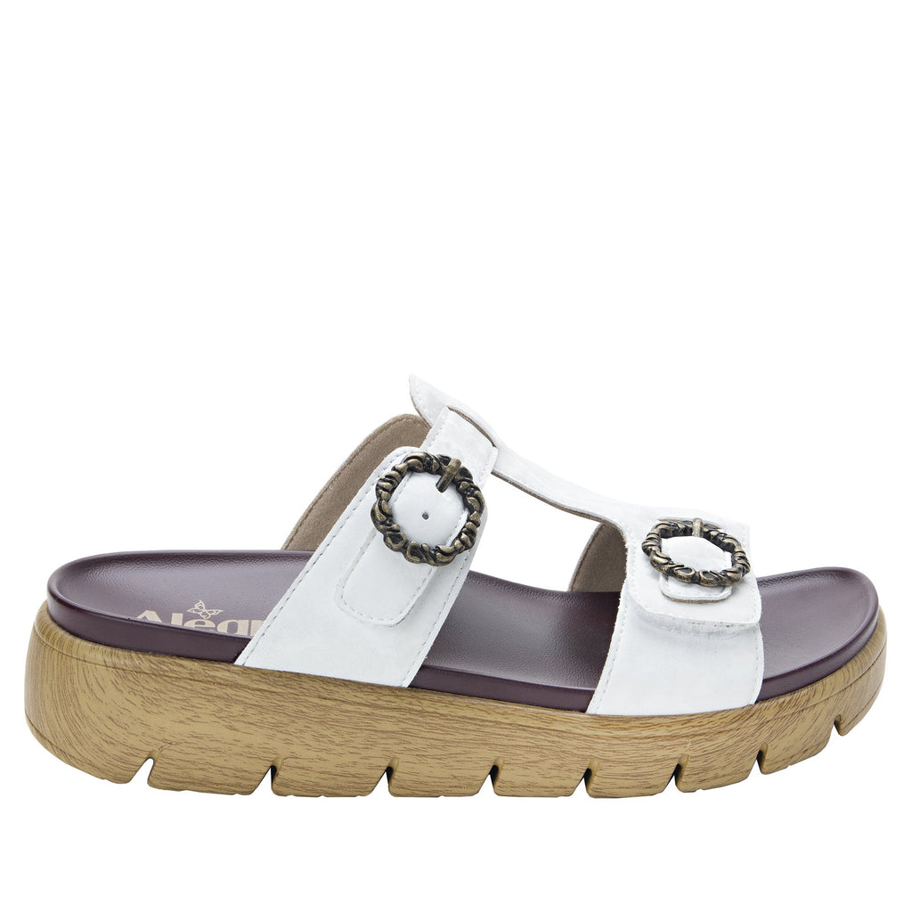 Vita Fig gladiator inspired sandal with t-strap hook and loop adjustable straps - VIT-175_S2