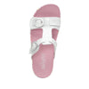 Vita Oasis White gladiator inspired sandal with two connected hook and loop adjustable straps - VIT-176_S4