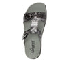 Vita Pow Wow Pewter gladiator inspired sandal with two connected hook and loop adjustable straps - VIT-593_S5