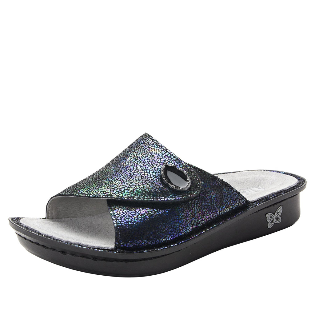 Vivica Aura fold over closure slide sandal on mini outsole - VIV-182_S1