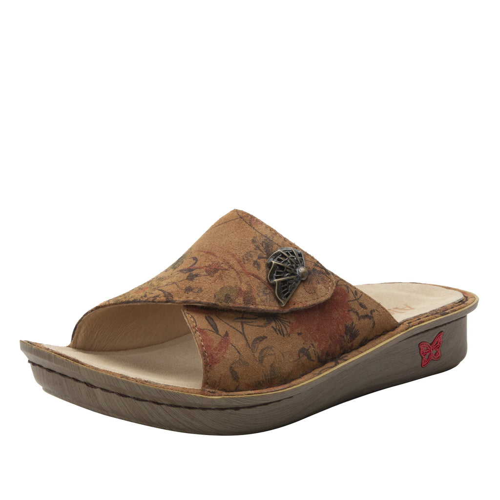 Vivica Woodland Wonders fold over closure slide sandal on mini outsole - VIV-7706_S1