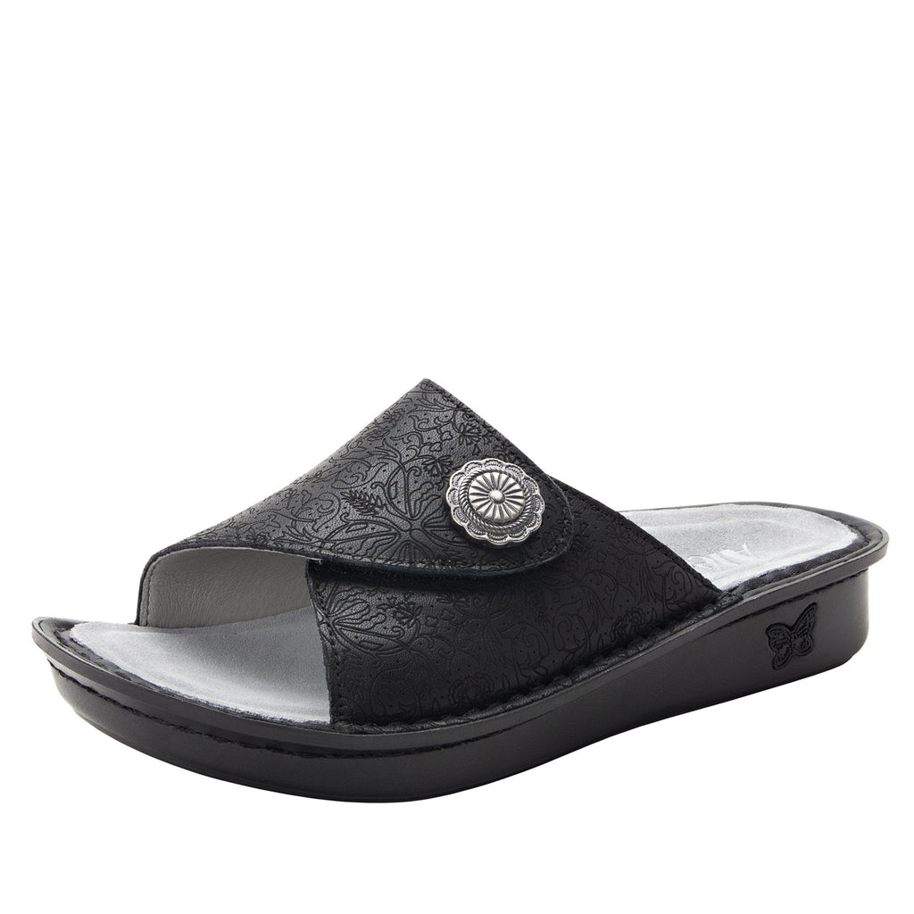 Vivica Trellis fold over closure slide sandal on mini outsole - VIV-878_S1