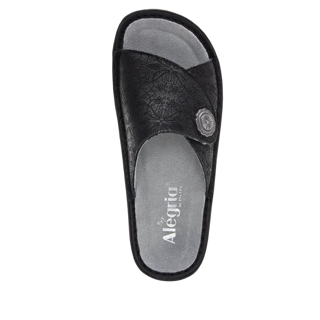 Vivica Trellis fold over closure slide sandal on mini outsole - VIV-878_S4