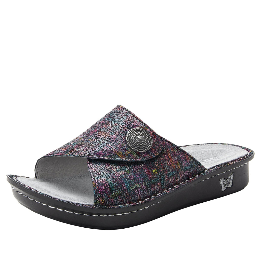 Vivica Chirpy Multi fold over closure slide sandal on mini outsole - VIV-889_S1