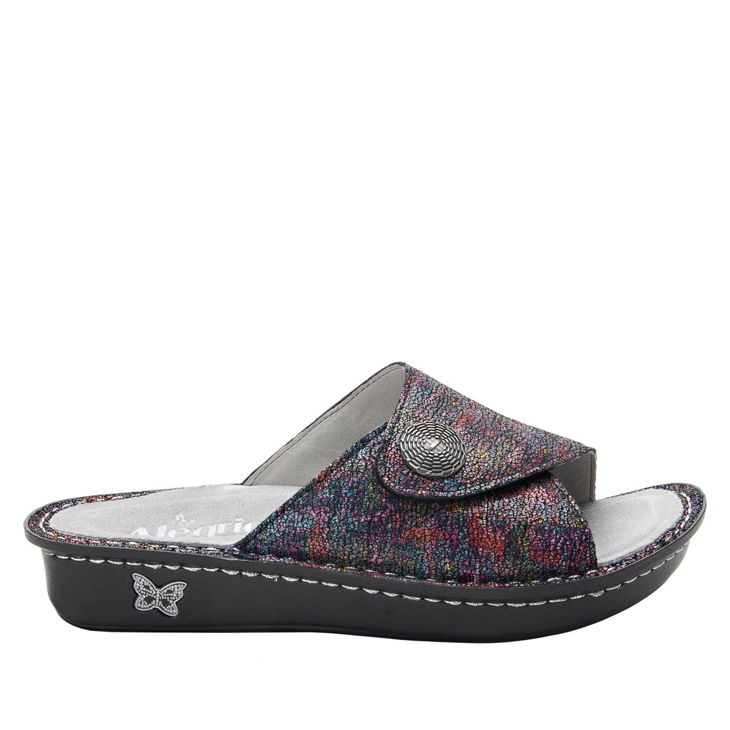 Vivica Chirpy Multi fold over closure slide sandal on mini outsole - VIV-889_S2