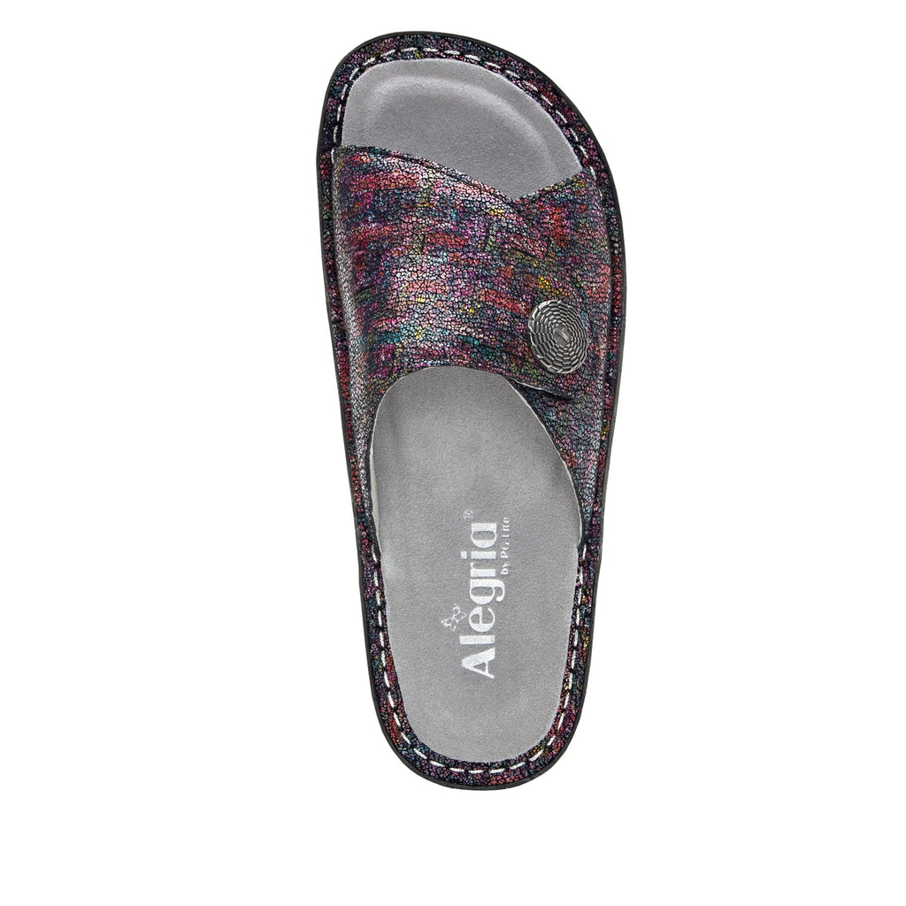 Vivica Chirpy Multi fold over closure slide sandal on mini outsole - VIV-889_S4