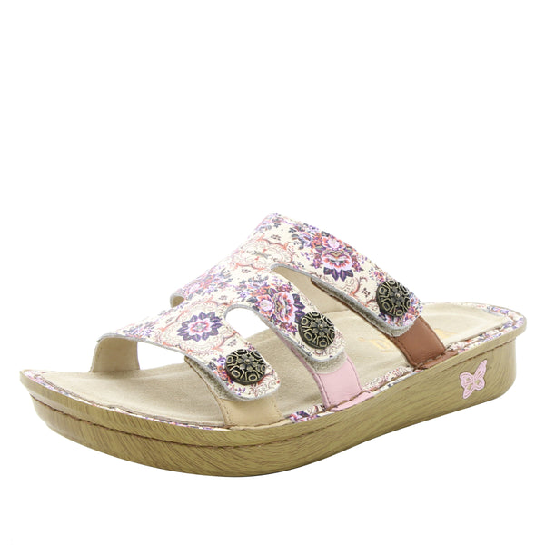 Venice What A Frill Mini three strap adjustable slide sandal on mini bottom - VEN-880_S1