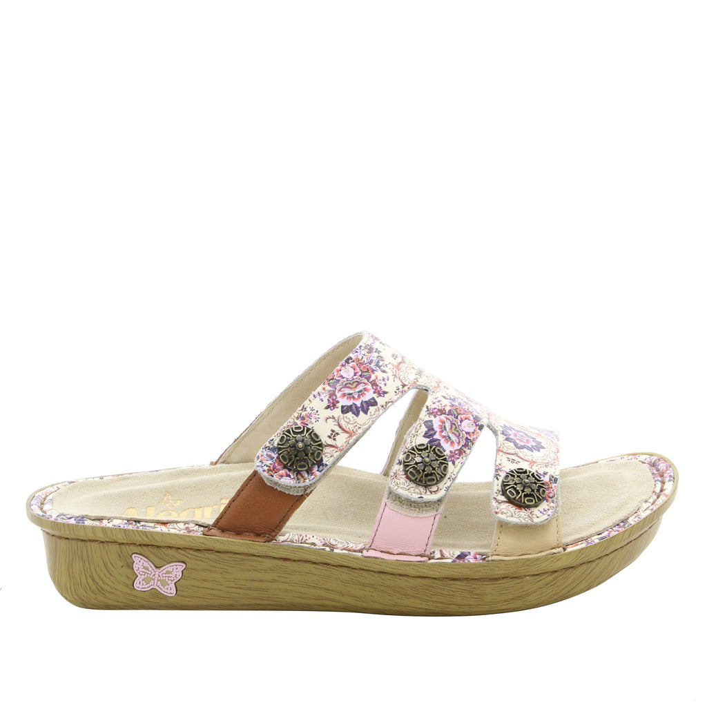 Venice What A Frill Mini three strap adjustable slide sandal on mini bottom - VEN-880_S2
