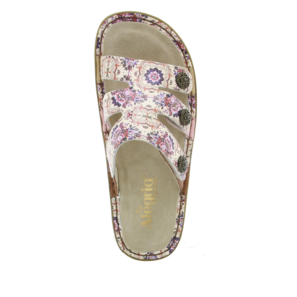 Venice What A Frill Mini three strap adjustable slide sandal on mini bottom - VEN-880_S4