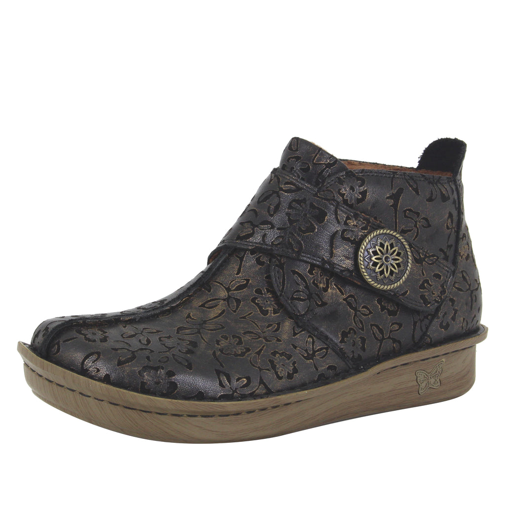 Caiti Bronze Eyed Susan Boot with adjustable strap on the mini outsole - CAT-854_S1