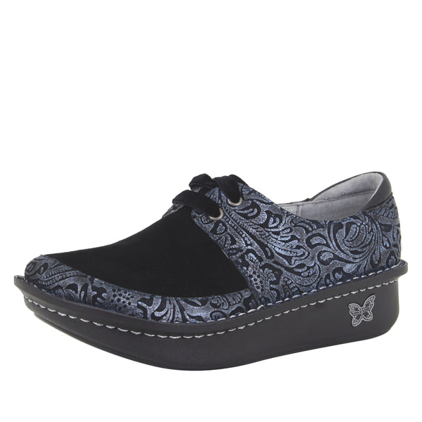 Dani Navy Swish lace up shoe with Dream Fit technology on the Classic Rocker outsole - DAN-262_S1