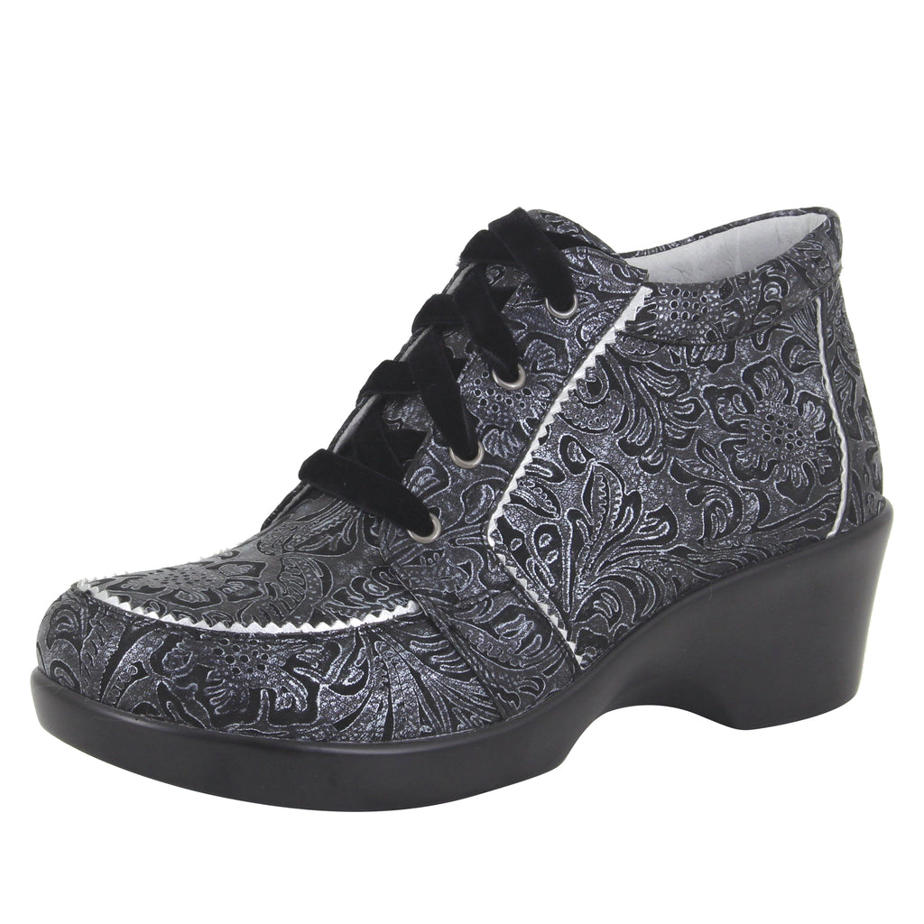 Elsa Steel Swish lace up bootie on the career fashion wedge outsole - ELS-263_S1