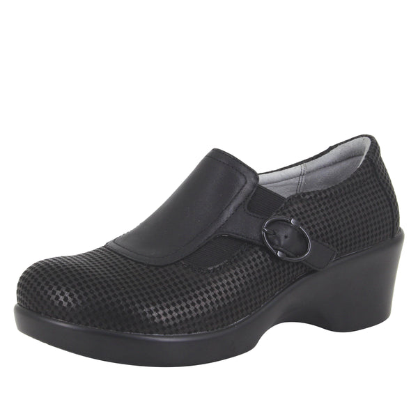 Enyah Houndstooth Mini wedge shoe with elastic gore and slip resistant outsole - ENY-773_S1