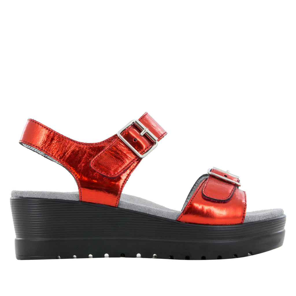Morgyn Cherry Mirror flatform wedge sandal, with exposed leather footbed - MOR-257_S2