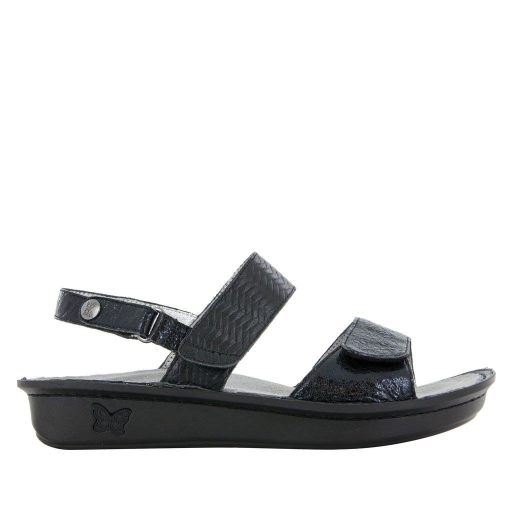 Verona Braided Black Sandal (501008924726)