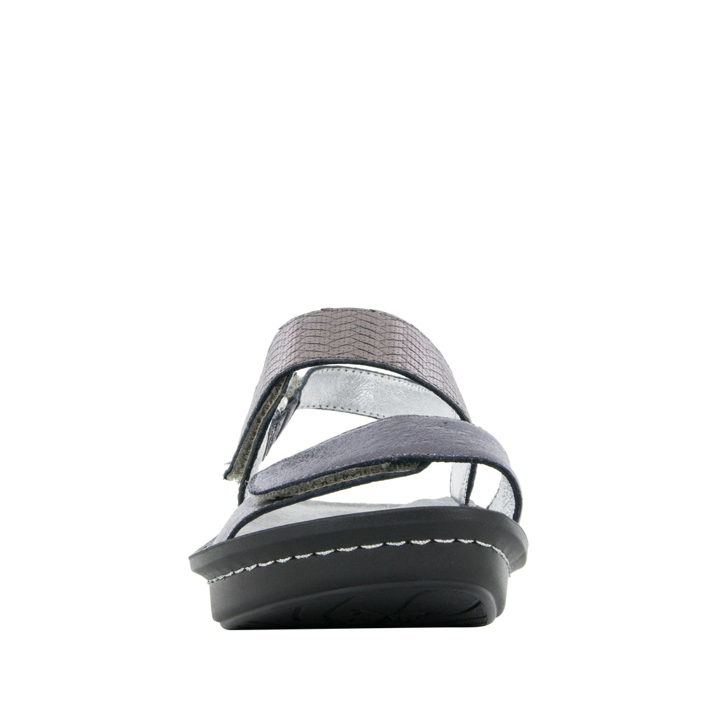Verona Braided Pewter Sandal (501008990262)