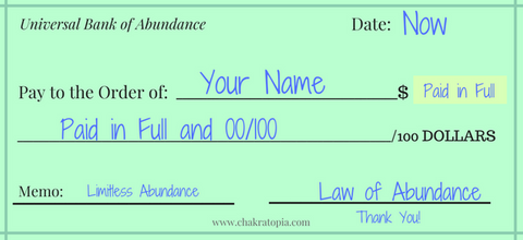 graphic relating to Printable Abundance Check known as Regulation of Abundance Exams The Refreshing Moon Chakratopia