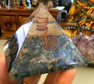 Orgonite Pyramid:  Blue Kyanite