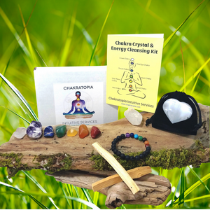 Premium Chakra Healing Crystal & Energy Cleansing Kit