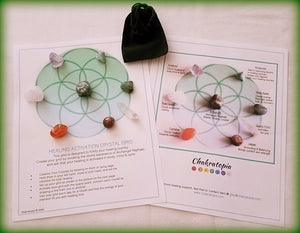 Custom Crystal Grid Kit:  Healing Activation