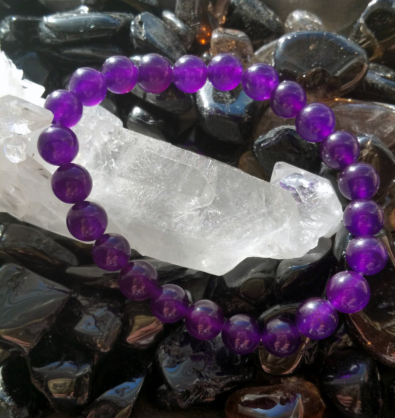 Purple Jade Power Bracelet