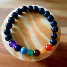 BFF Bundle:  Selenite Puffy Heart + Chakra Gemstone Bracelet