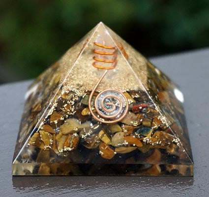 Orgonite Pyramid:  Tiger Eye
