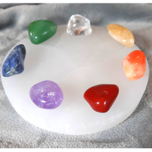 Selenite Charging Plate Chakra Crystal Set
