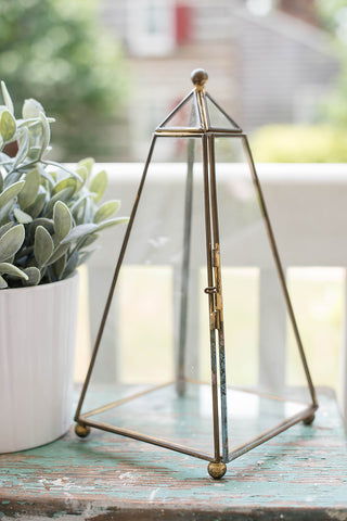 Glass Triangle Terrarium