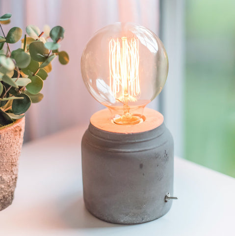 Concrete Lamp (Darker Gray)