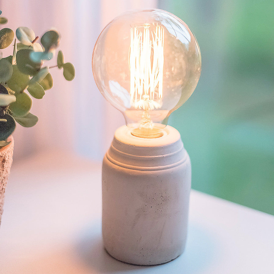 Concrete Edison Lamp (Light Gray)
