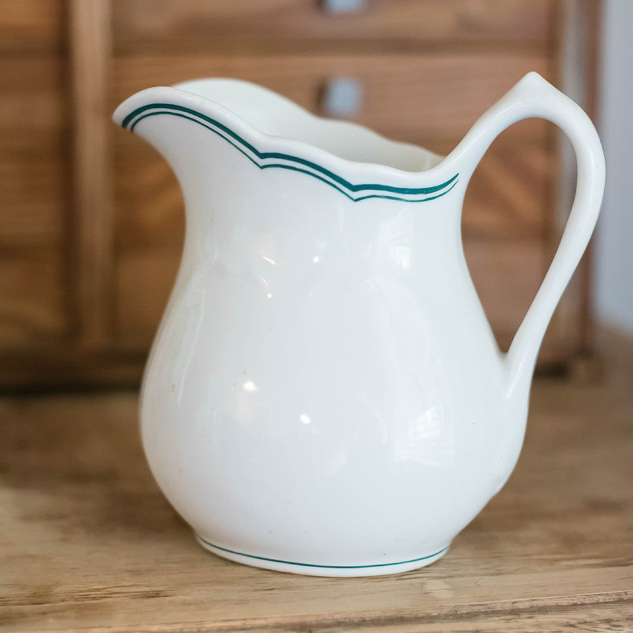 Pitcher with Green Stripe