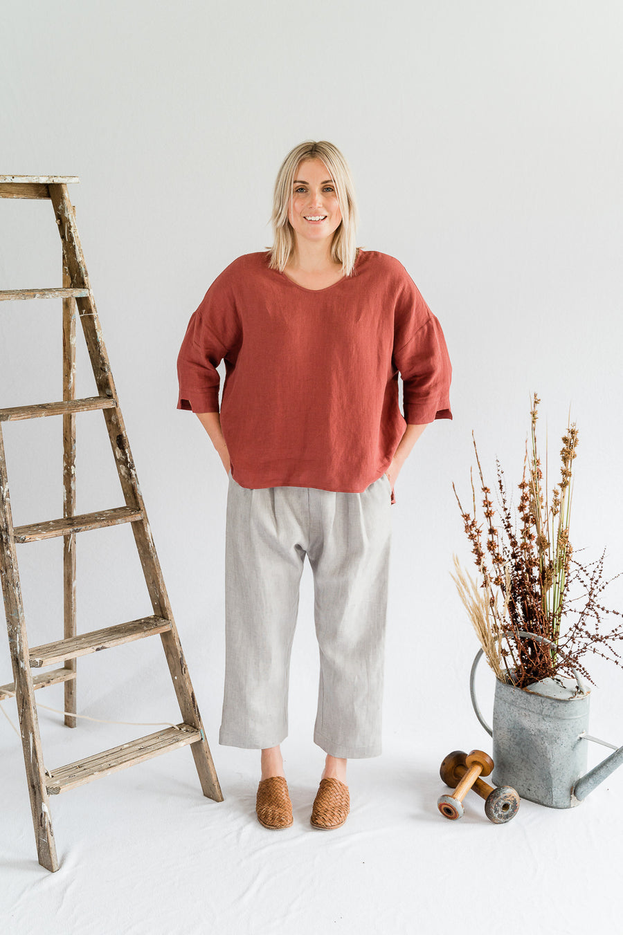 Field Top - Merlot - Shop Online At Mookah - mookah.com.au