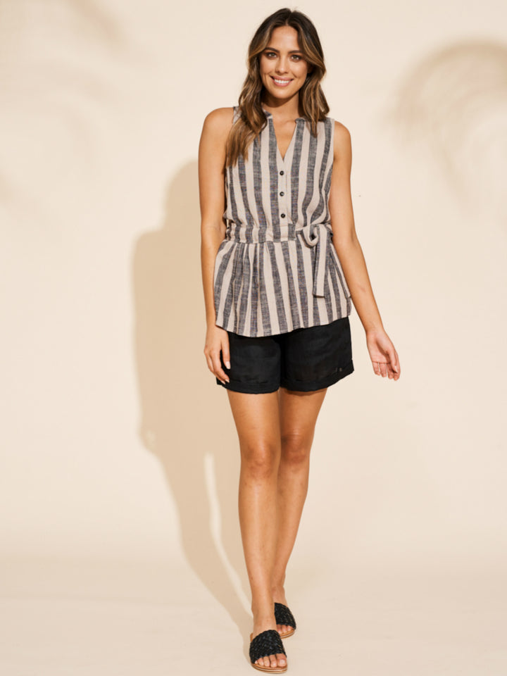 Serengeti Top - Black Stripe