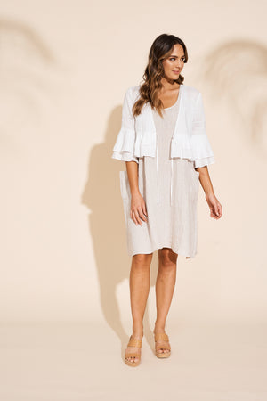 Masai Ruffle Jacket - Salt - Shop Online At Mookah - mookah.com.au