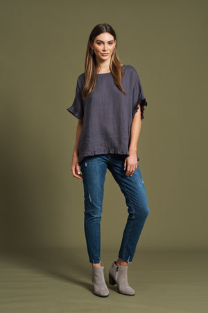 Jacinda Top - Slate - Shop Online At Mookah - mookah.com.au
