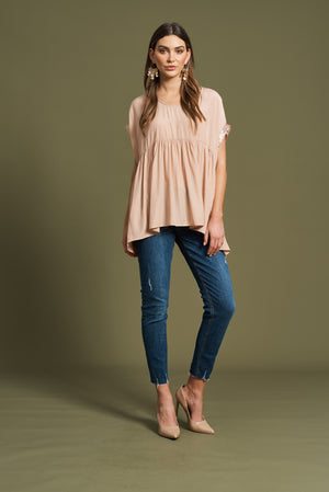 Aretha Top - Blush - Shop Online At Mookah - mookah.com.au