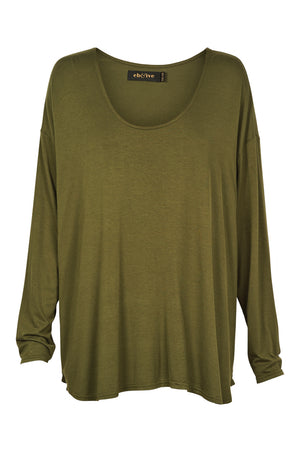 Oprah Scoop Top - Moss - Mookah