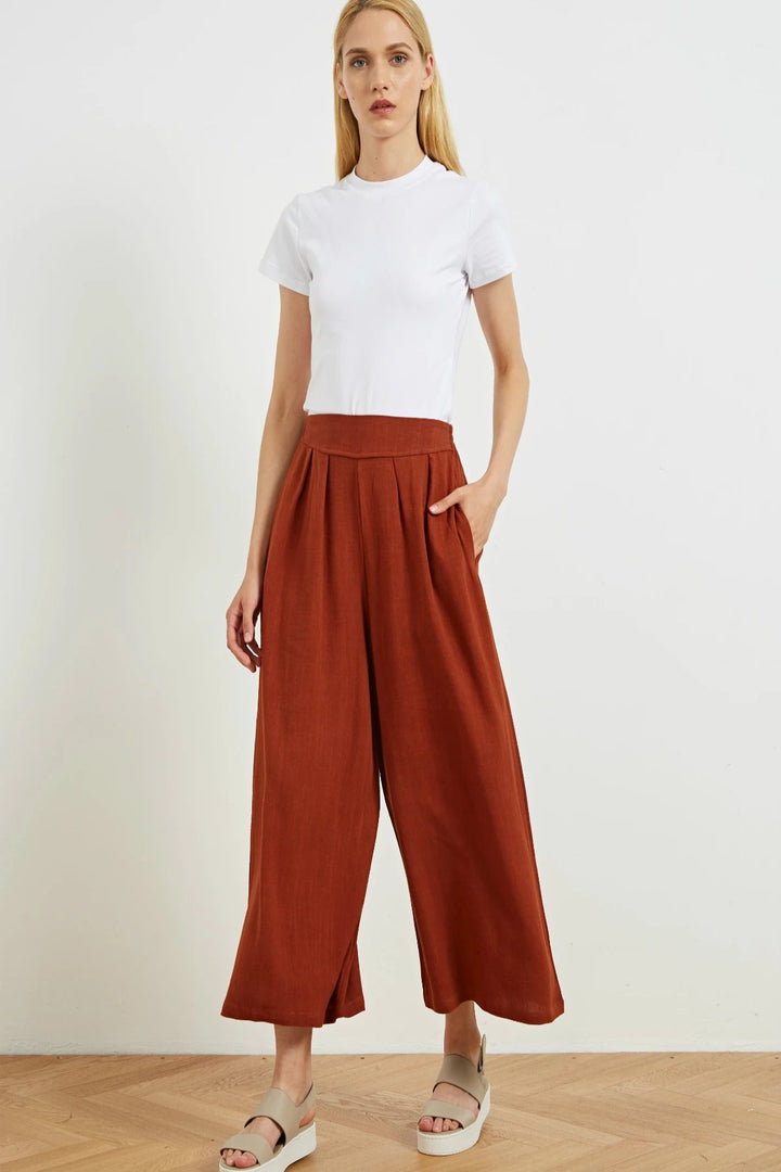 Resort Pant - Rust - Shop Online At Mookah - mookah.com.au